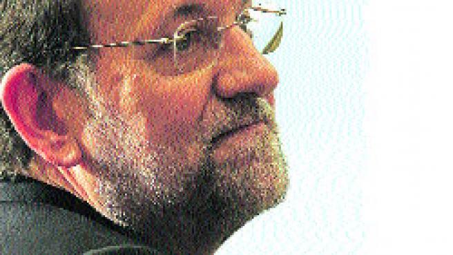 Mariano Rajoy, en un momento de la entrevista. (Jorge París)