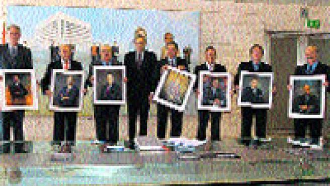 11 obras componen la Galería de Presidentes (en el centro, el actual presidente).