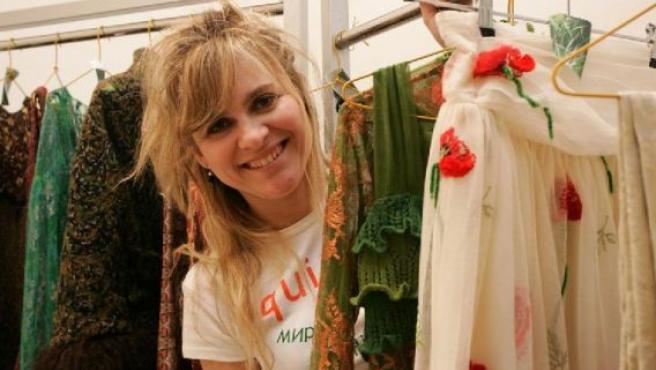 La diseñadora leonesa María Lafuente es ya una veterana de Cibeles. FOTO: ARCHIVO