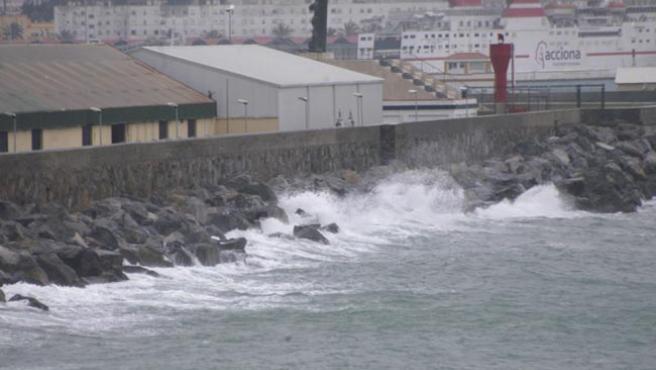 El temporal azota Ceuta.