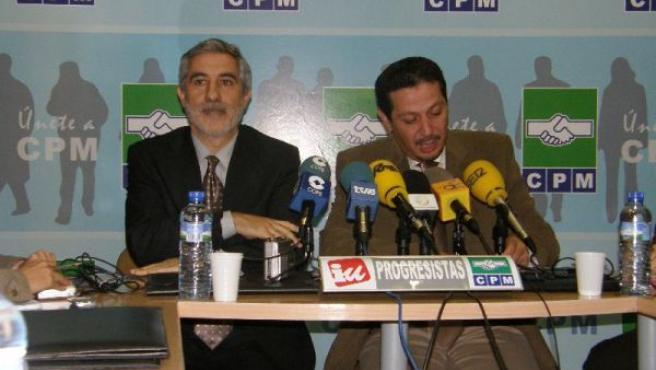 Gaspar Llamazares con Mustafa Aberchan, líder de CPM.