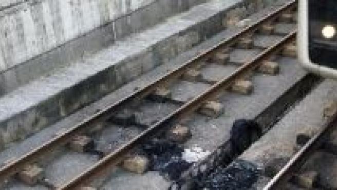 Metro saboteado en Getxo.