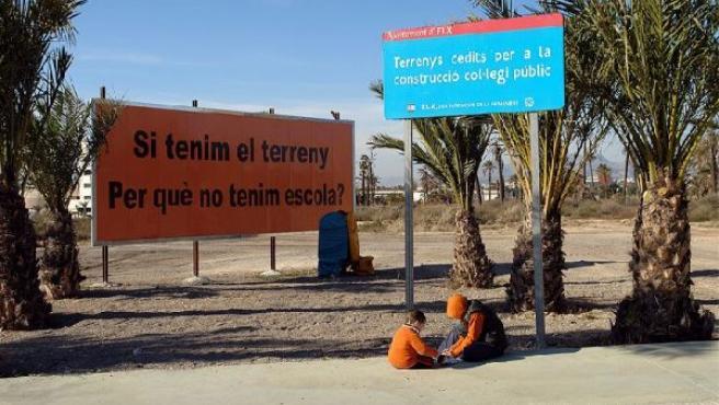Solar destinado a la construcción del colegio Clara Campoamor (www.queremoscolegio.com)