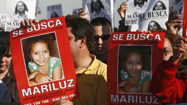 Imagen de archivo de una de las múltiples manifestaciones pidiendo el regreso de Mari Luz. (IVÁN QUINTERO/EFE)