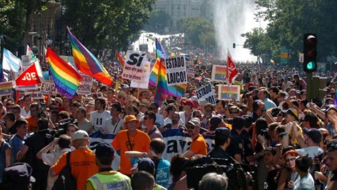 Celebración del Orgullo Gay en Madrid en 2005