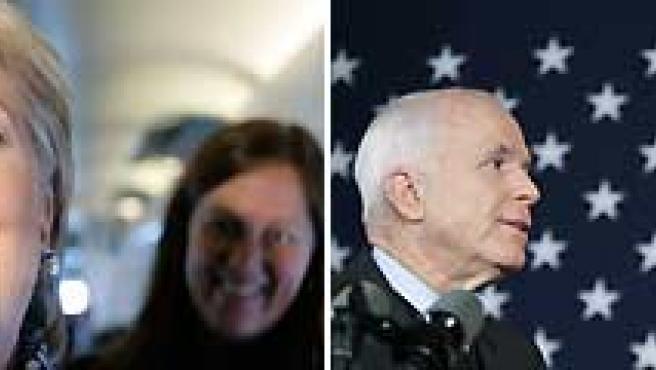Clinton, feliz. mientras Romney apoya a McCain. (AGENCIAS).