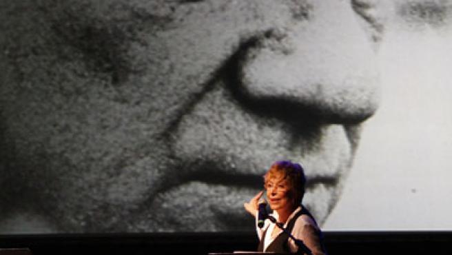 Momento del homenaje a Fernado Fernan-Gómez en Madrid.