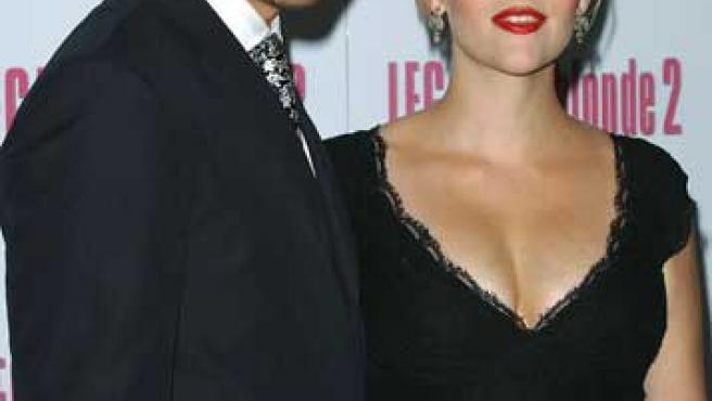 Ryan Philippe y Reese Witherspoon posando cuando todavía estaban casados.