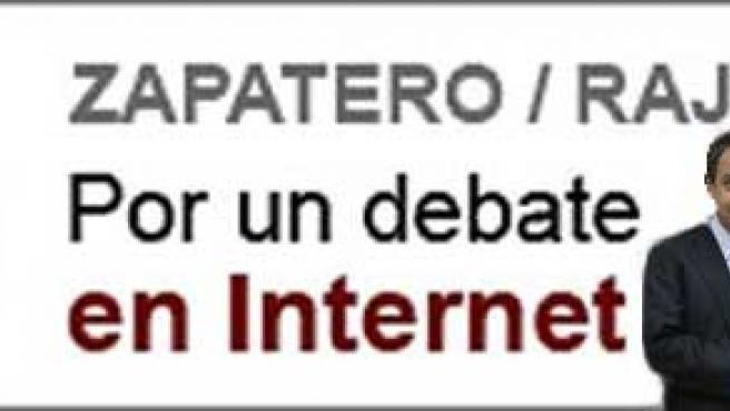 Zapatero y Rajoy, con el logo de la propuesta de 20minutos.es para que realicen un debate antes de las elecciones en la red.