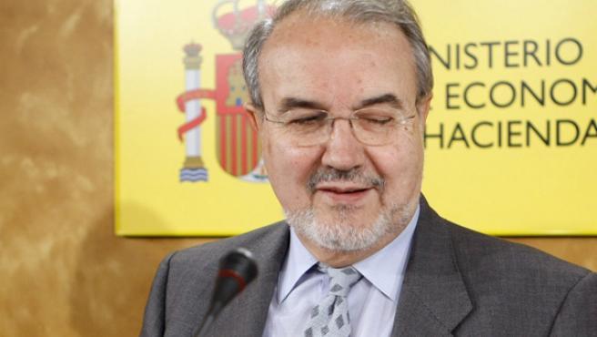 Solbes presenta el balance de las Cuentas Públicas en 2007 (EFE).