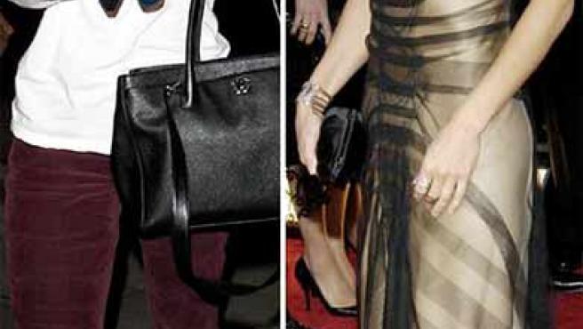 Sólo un año separan estas dos imágenes de Courteney Cox, la de la izquierda, de este año. (Daily Mail)