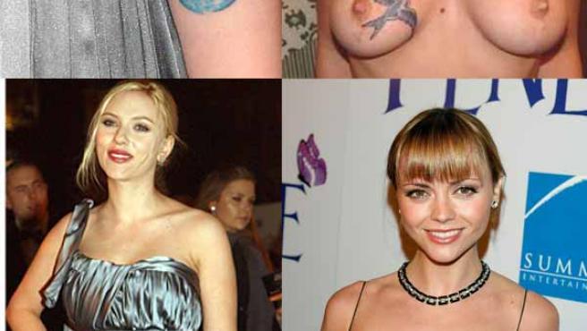 De izquierda a derecha, Scarlett Johansson y Christina Ricci.