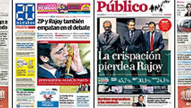 Portadas de los diarios del día (AGENCIAS).