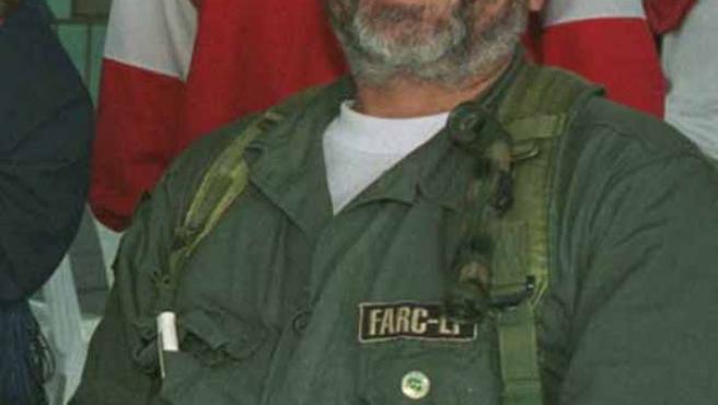 """Fotografía de archivo de """"Raúl Reyes"""", portavoz internacional de las FARC."""