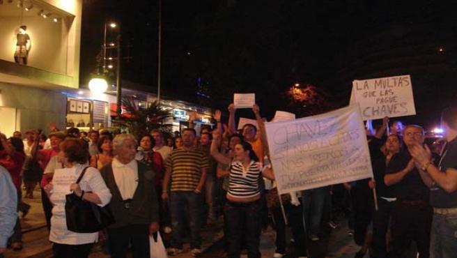 Los vecinos ya recorrieron en protesta las calles de Marbella el pasado mes de octubre pese a tener sólo permiso para concentrarse.
