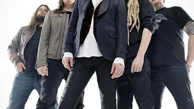 Los integrantes de HIM en una imagen promocional.