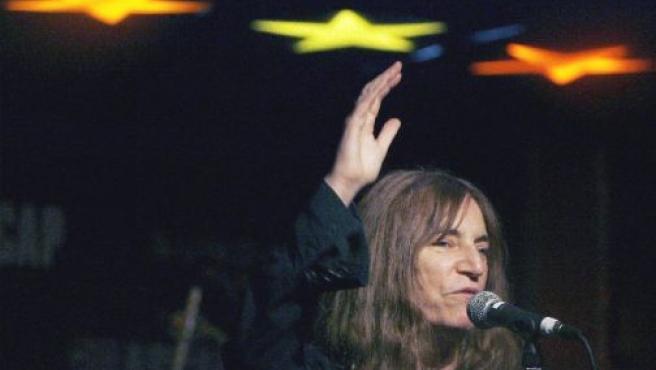 La cantante neoyorquina Patti Smith, en una foto de archivo.