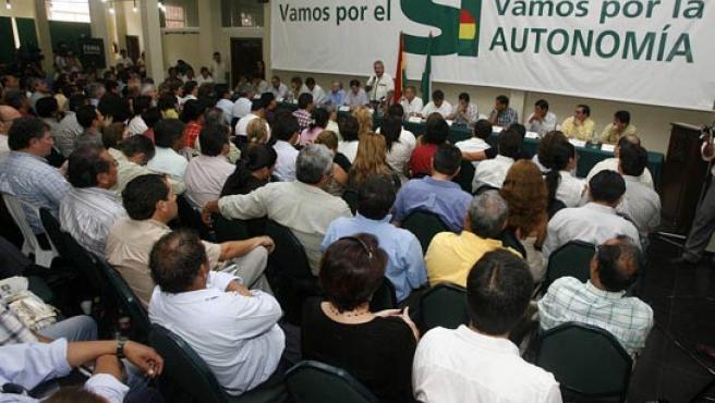 Vista general de la reunión del Consejo Nacional Democrático (Conalde. (EFE).