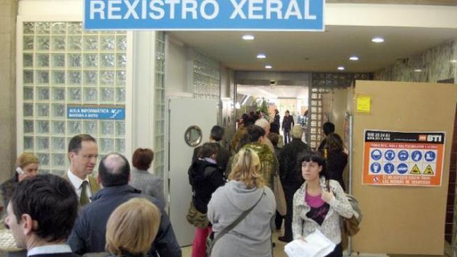 En A Coruña hubo colas para apuntarse al registro el día que entró en funcionamiento.