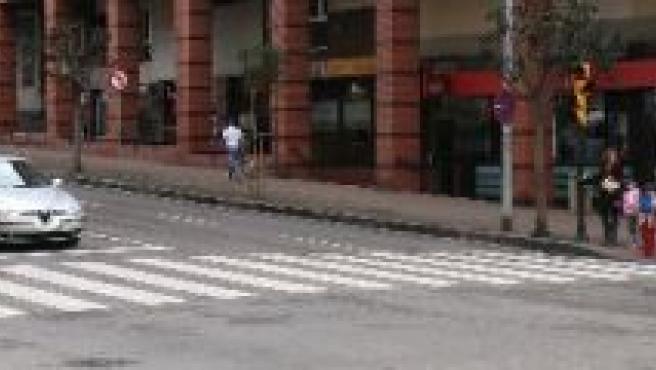 Calle Pérez de Ayala, en Gijón.