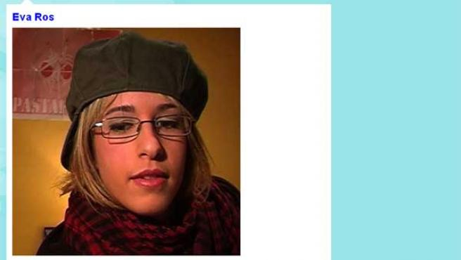 La joven videoblogger, en la foto de su perfil en Twitter