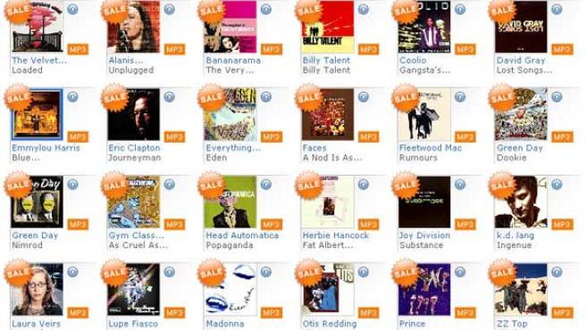 La discográfica venderá MP3 en la tienda de 7digital.com, en la imagen.