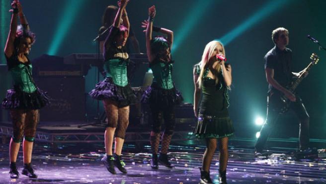 La cantante Avril Lavigne en la gala de los MTV Awards.
