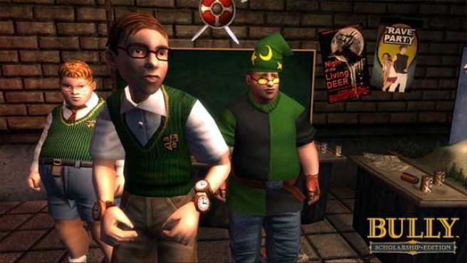 Los empollones de la escuela en el juego de Rockstar.