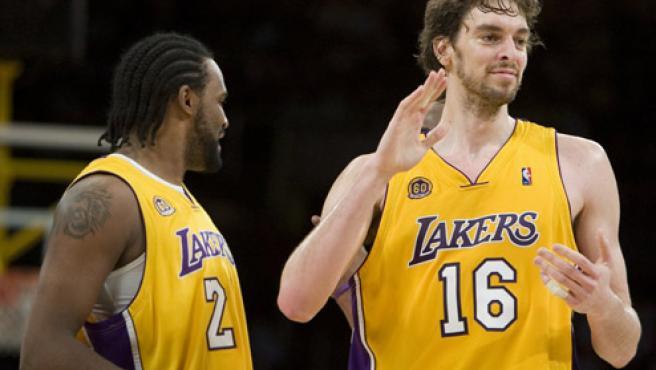 Pau Gasol, en un partido con los Lakers. (EFE)