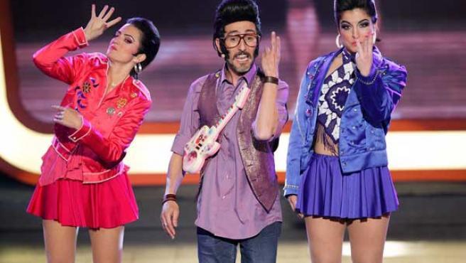 El candidato español a Eurovisión, en la gala final de Televisión Española en la que fue elegido ganador.