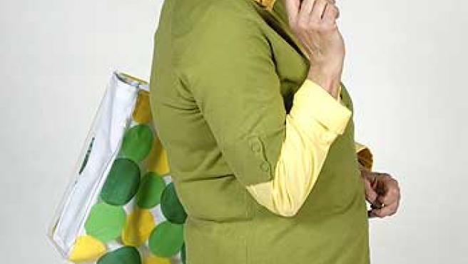 Mamen García, caracterizada como Brígida.