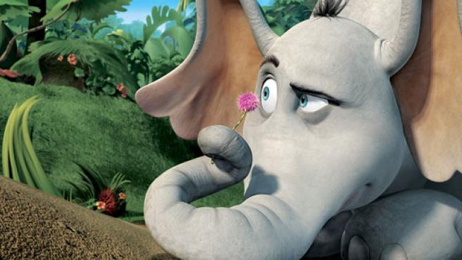 El elefante Horton, protagonista del filme.