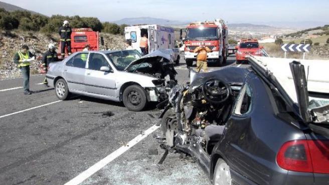 Accidente en una carretera española. (ARCHIVO)