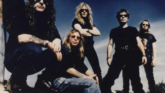 Los componentes de la banda de Iron Maiden.