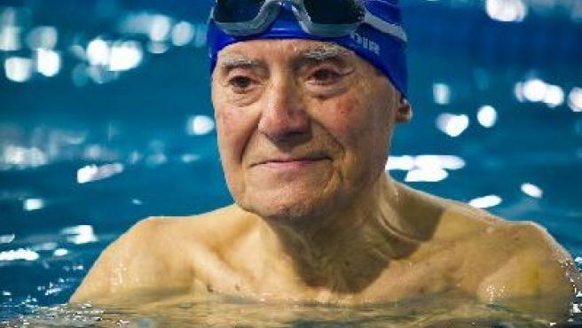 Alfred Rusell, en la piscina del gimnasio DIR Maragall.