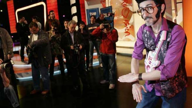 El representante español durante su presentación ante los medios.