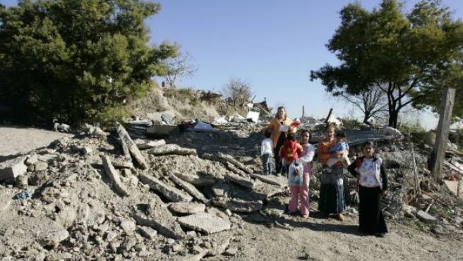 Familias gitanas en El Salobral.