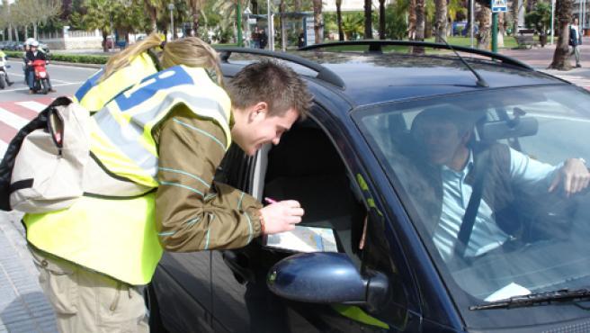 Informadores durante la Operación Bienvenida 2007.