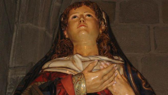 Nueva talla de la Virgen de la Alegría que se procesionará por primera vez el Domingo de Resurección
