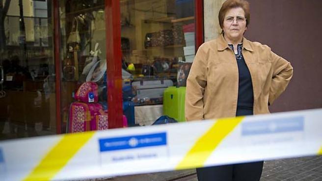Juana Lirio, frente a su tienda. (Eros Albarrán).