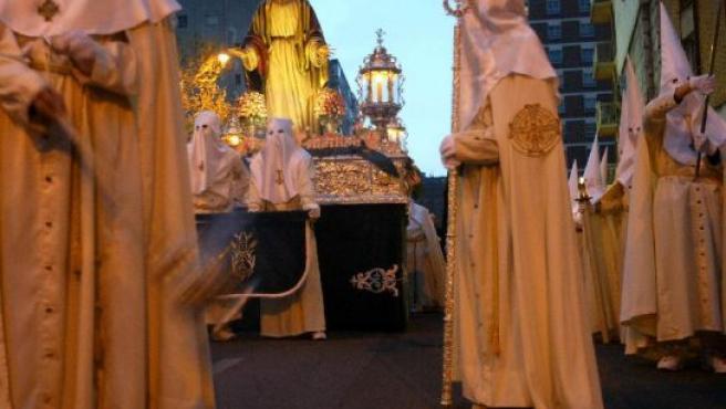 El Jesús de la Esperanza durante una procesión el año pasado.