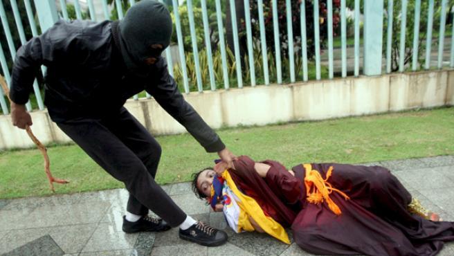 Protestas en todo el mundo en apoyo a los tibetanos (AGENCIAS).