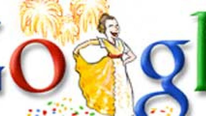 Google celebra las Fallas.