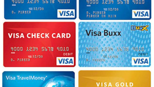 Imagen cedida por Visa que muestra varias tarjetas de crédito de la compañía. (EFE)