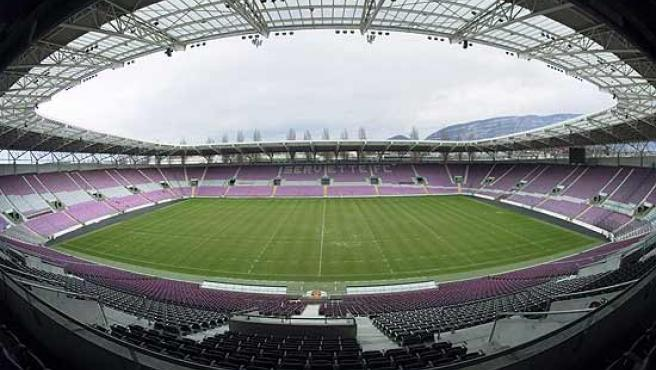 Interior del Stade de Genève.
