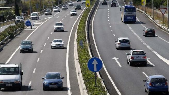 La autovía A7, a la altura de San Juan de Alicante (MANUEL LORENZO / EFE).