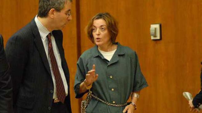 Maria José Carrascosa en un tribunal estadounidense. (EFE)