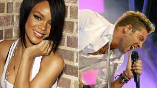 David Bisbal y Rihanna. (ARCHIVO)