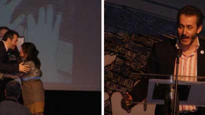 Gumersindo Lafuente recibe el Premio José Manuel Porquet de Periodismo Digital en Huesca (DAVID RAMOS)