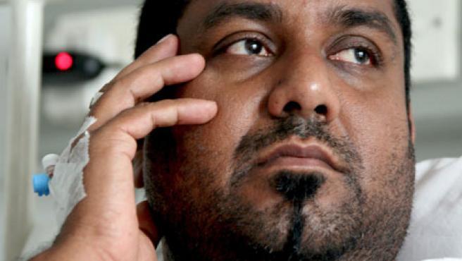 El director de cine Thushara Peries recibe tratamiento en un hospital privado de Colombo (Sri Lanka).